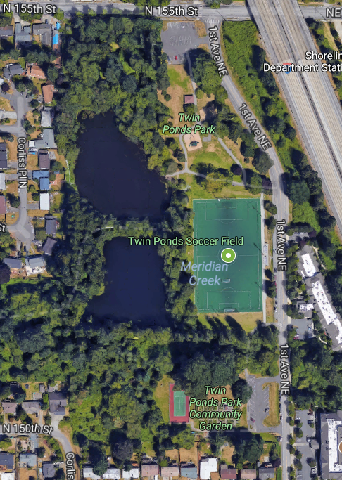 Location of the Twin Ponds Park Turf & Field Light Replacement Project