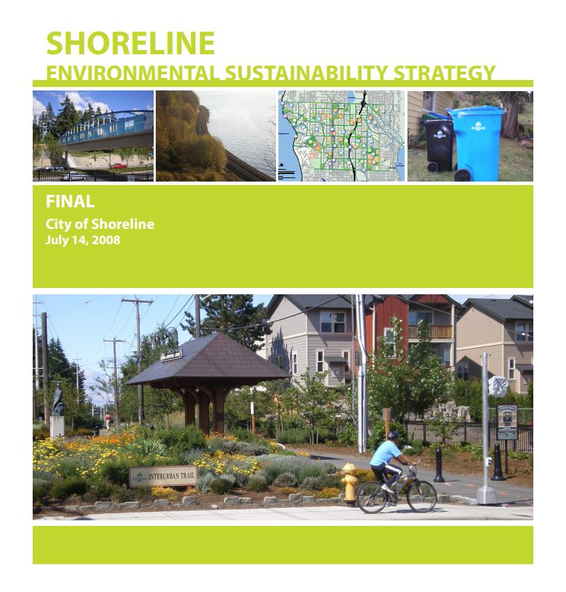 2008 Environmental Sustainability Strategy Cover