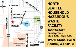North Seattle Household Hazardous Waste Facility Map