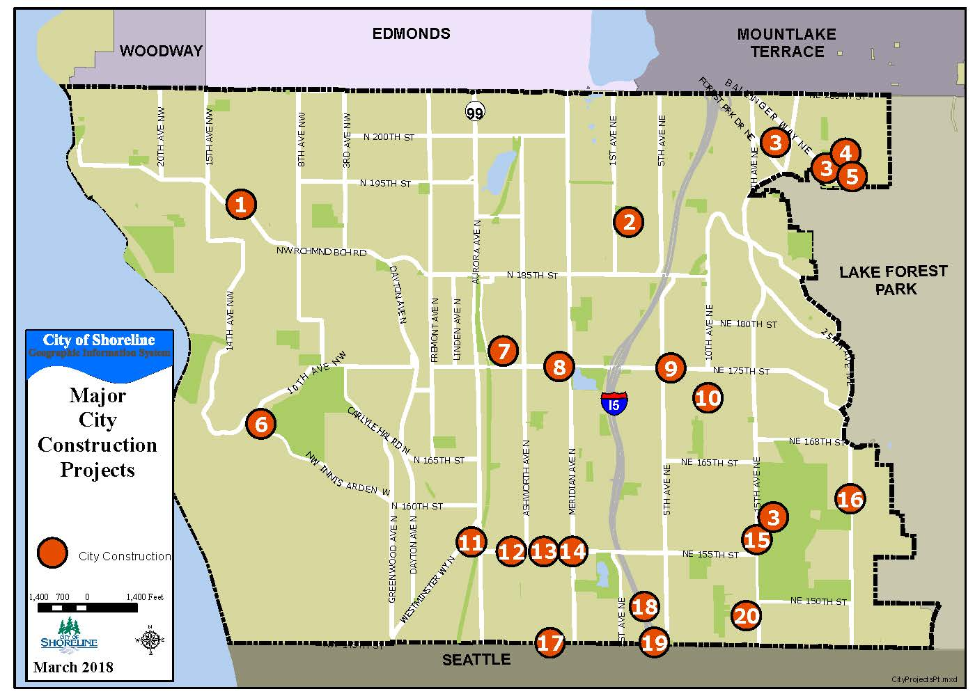 Capital Improvement Projects Map