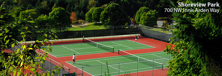 Shoreview Park tennis courts