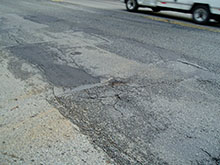 Image showing the poor roadway condition.